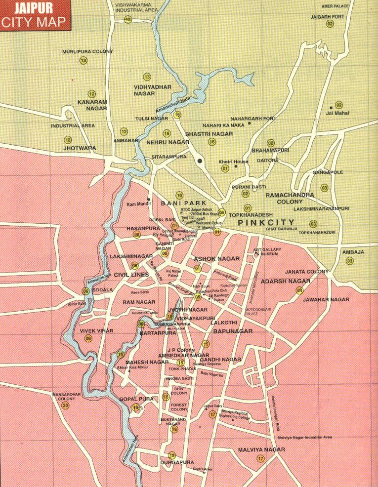 Jaipur Tourist Map Tourist map of Jaipur | City Maps