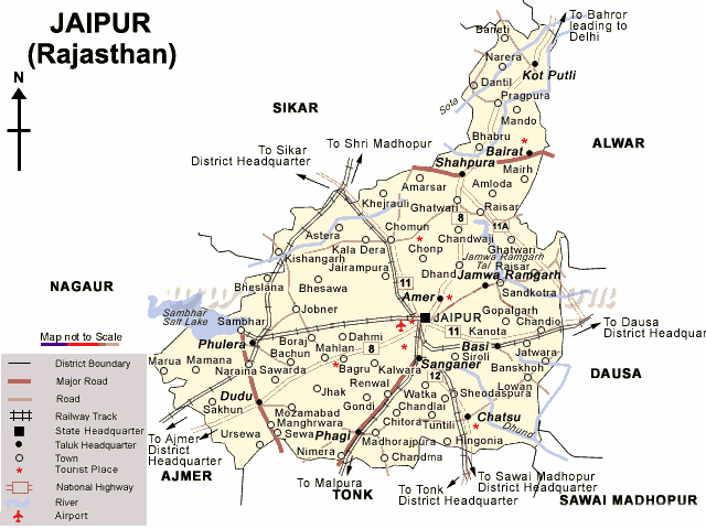 Map Of Jaipur District Jaipur Maps, JAIPUR Travel Guide, Jaipur Tourism Portal Jaipur